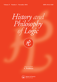 History and Philosophy of Logic, vol 37