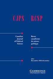 Canadian Journal of Political Science_Revue canadienne de sciencepolitique